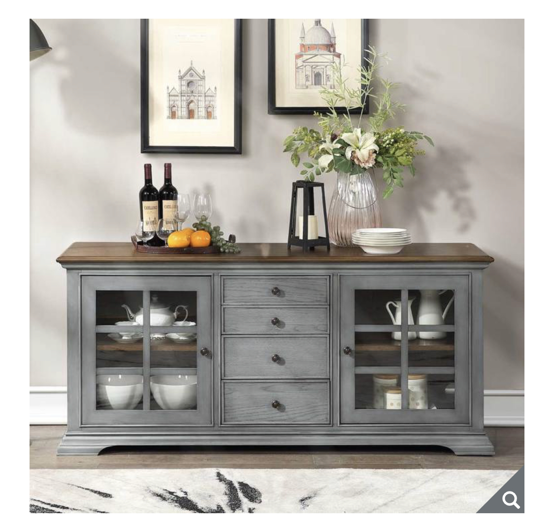 Northridge Beaufort Vintage Grey Accent Console for TVs up to 70""