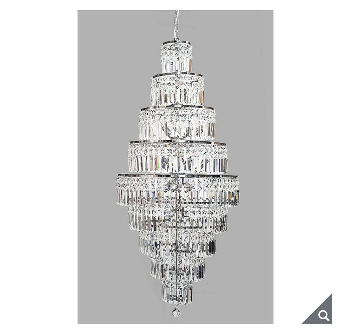 Swarovski Crystal Empire 13 Light Chandelier in Chrome