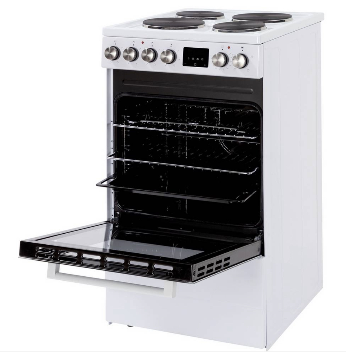 New World NWLS50SEW 50cm Single Electric Cooker - White