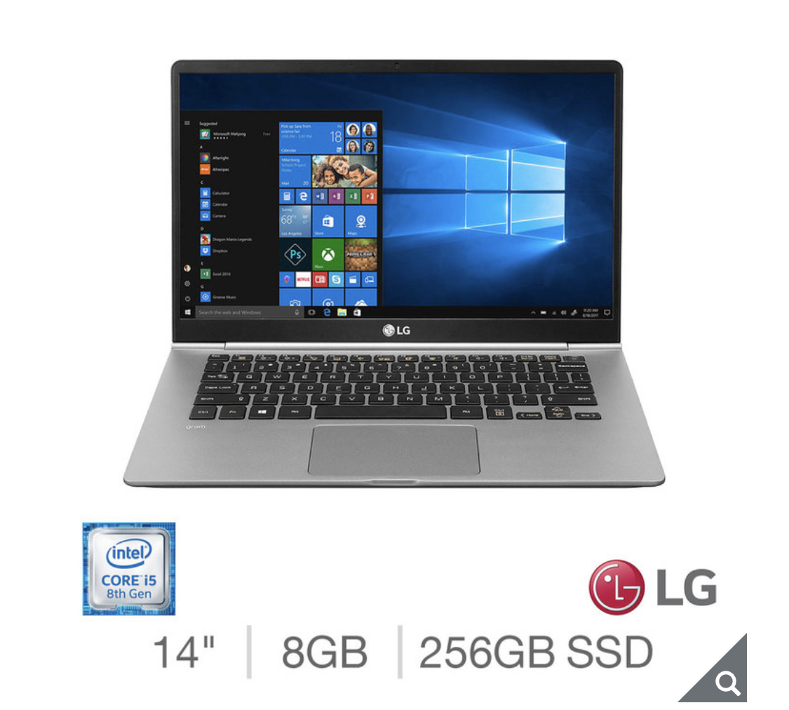 2020 LG Gram, Intel Core i5, 8GB RAM, 256GB SSD, 14 Inch Ultra-Lightweight Laptop