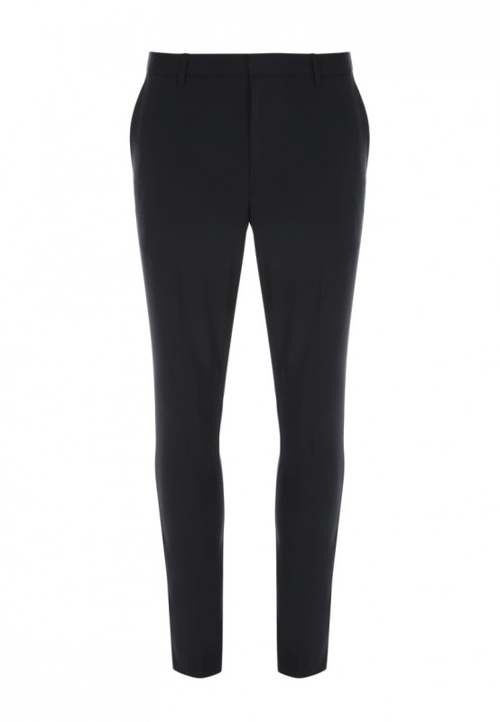 Mens Black Stretch Skinny Trousers