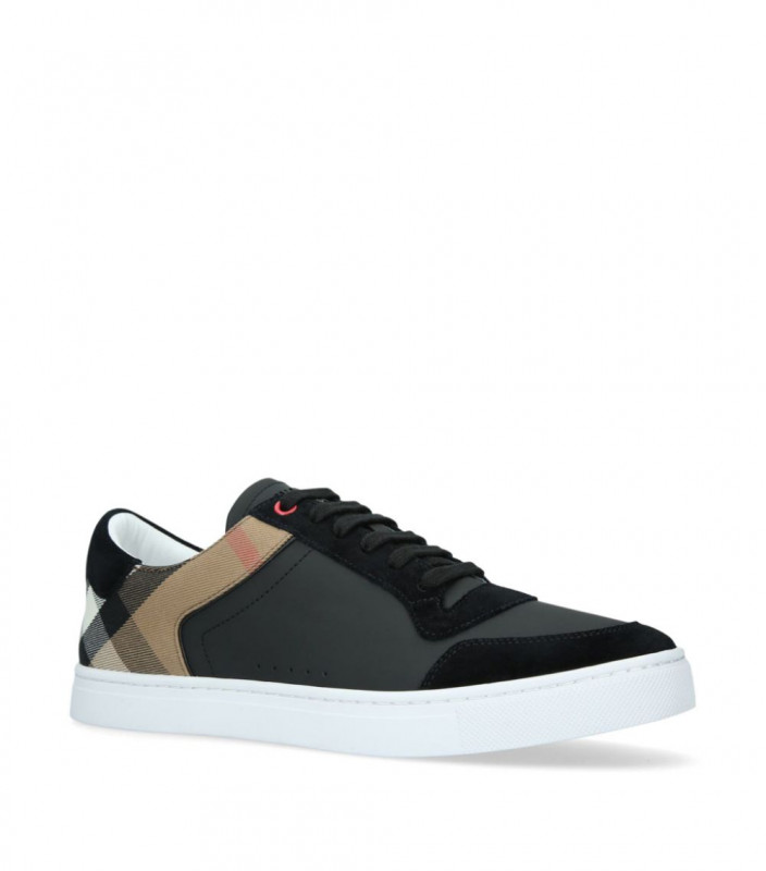 BURBERRY  Leather Check Sneakers