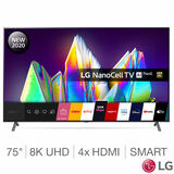 LG 75NANO996NA, 75 Inch NanoCell 8K Ultra HD Smart TV