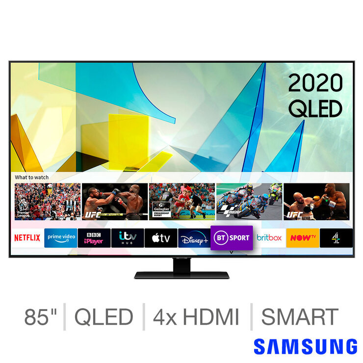 Samsung QE85Q80TATXXU 85 Inch QLED 4K Ultra HD Smart TV