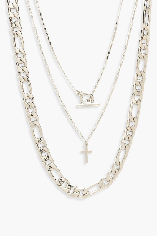 Chunky Chain & T-Bar Layered Necklace