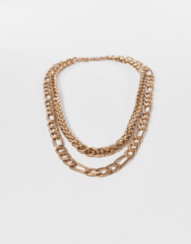 Double-strand chain necklace