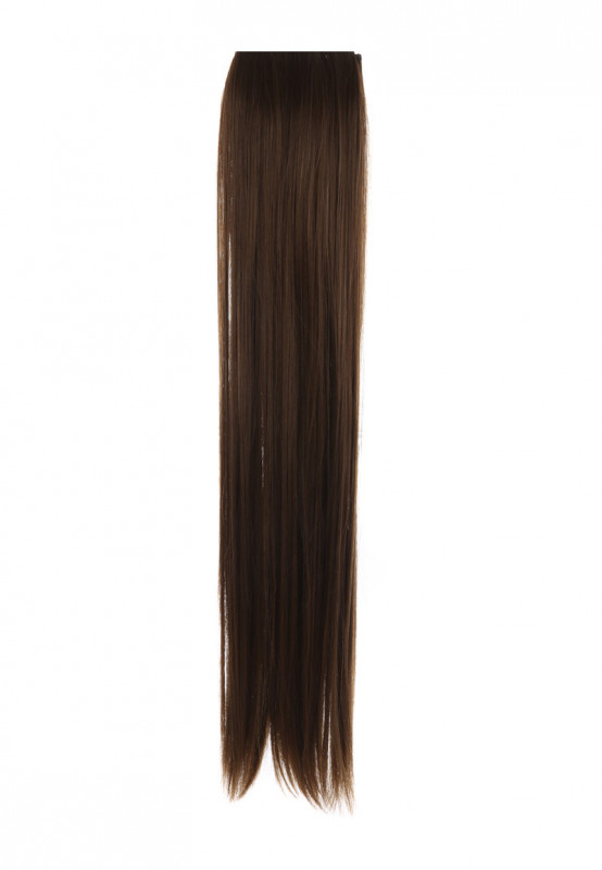 Womens Brown Straight Clip In Hair Extensions