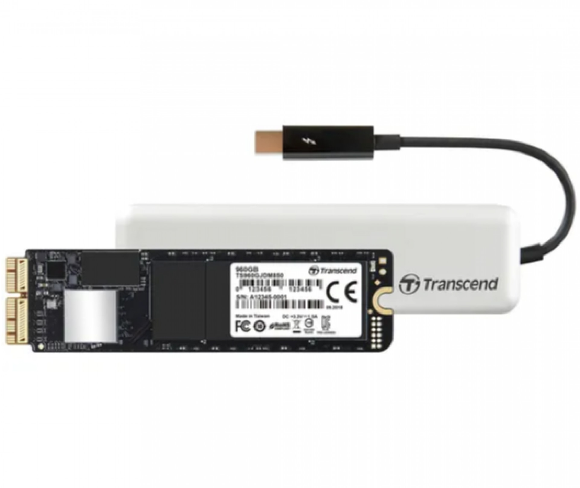 Transcend JetDrive 855 Portable 480 GB External SSD - White