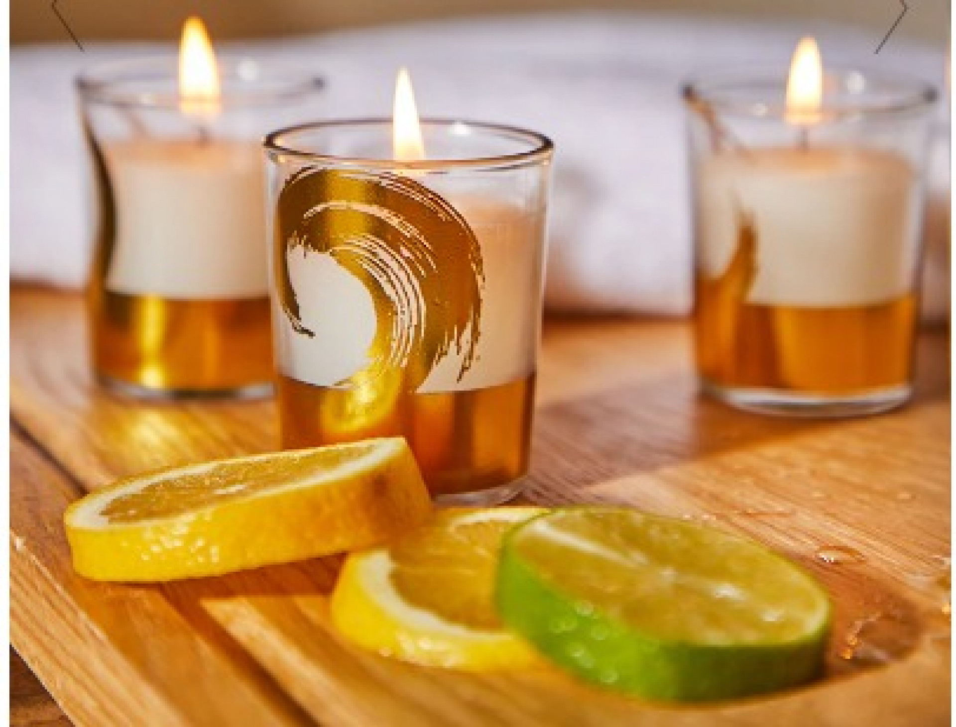 SPA DAY LAVENDER & VANILLA SCENTED SET OF 3 CANDLES