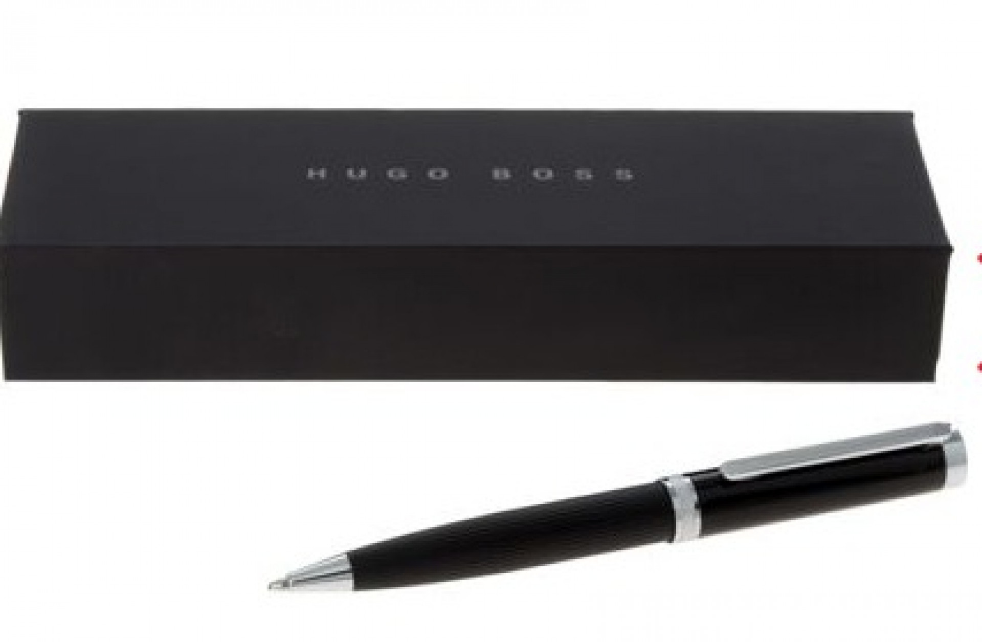 HUGO BOSS  Charcoal Stylo Column Stripes Twist Pen
