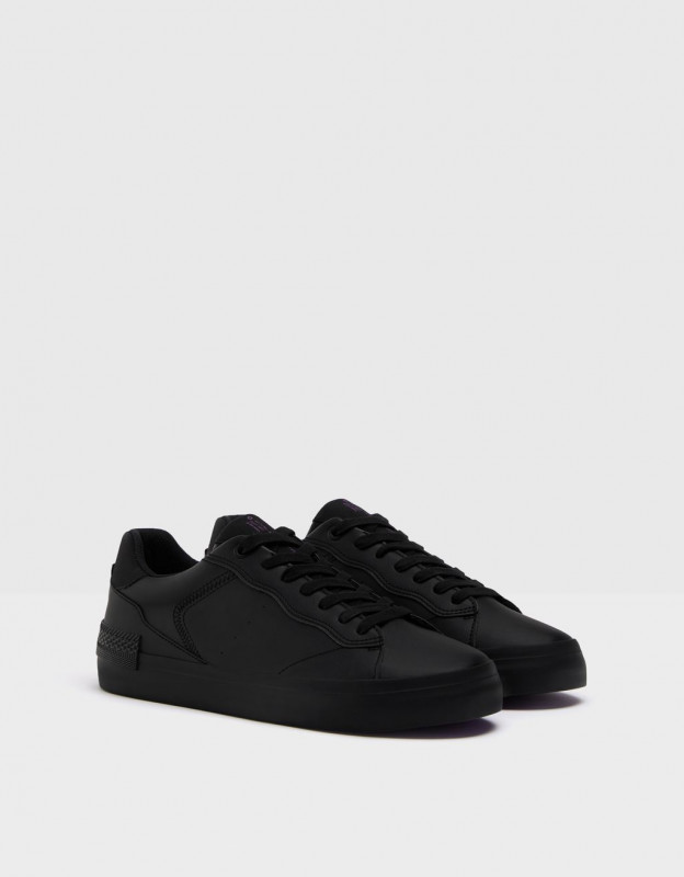 Men's trainers with topstitching detail