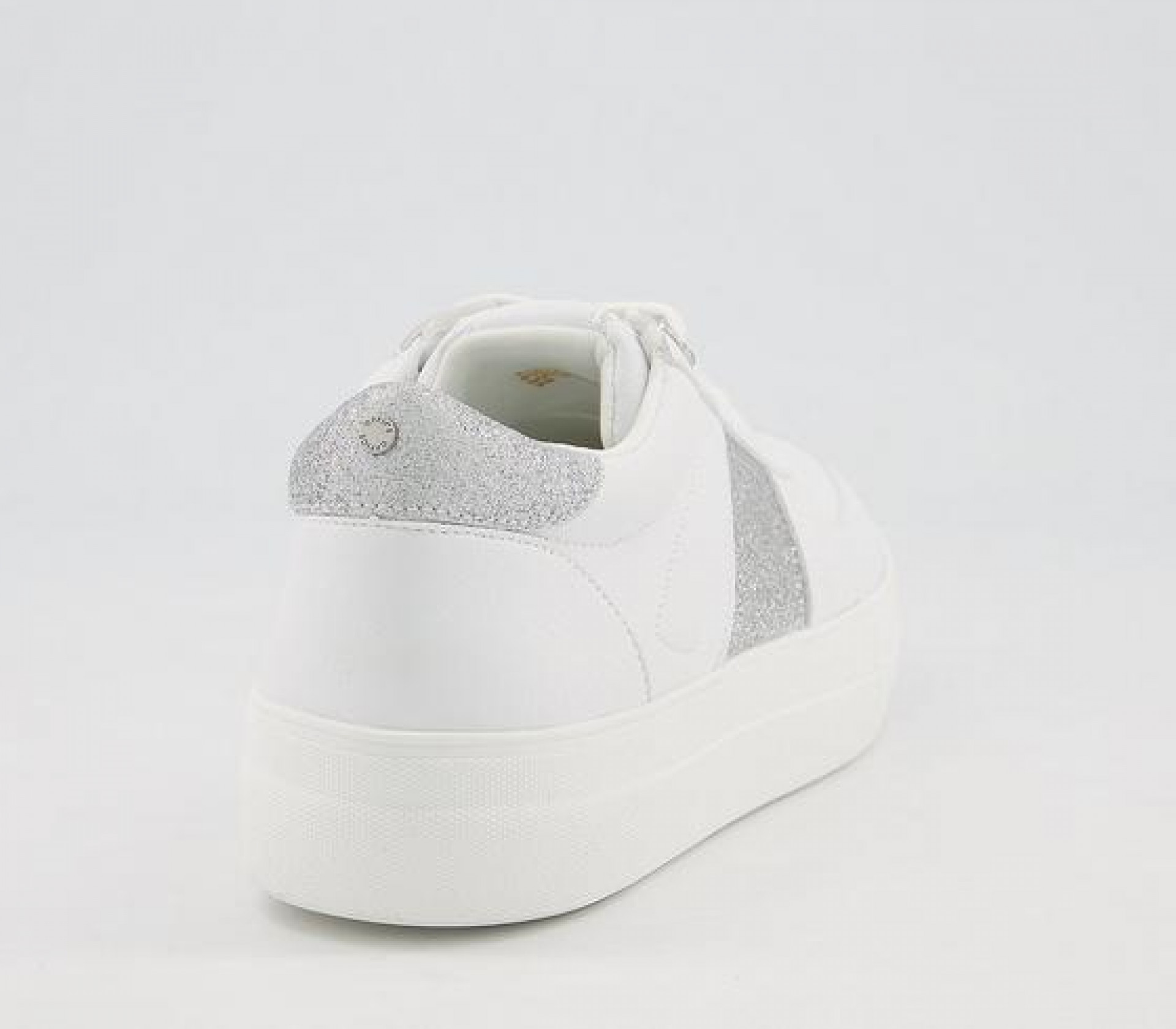 Office Fairly Feature Panel Lace Up Trainers White