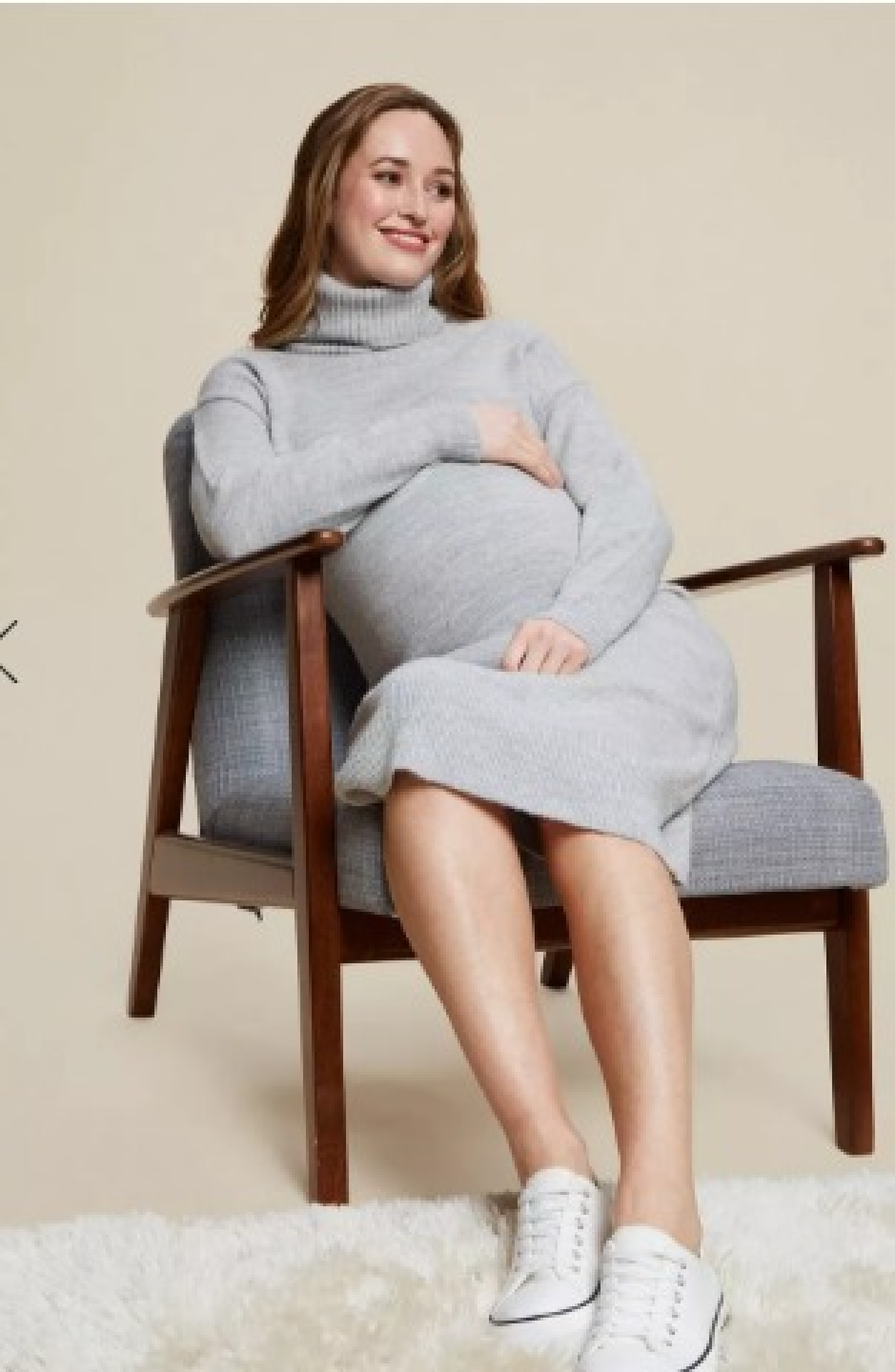 DP Maternity Grey Knitted Dress