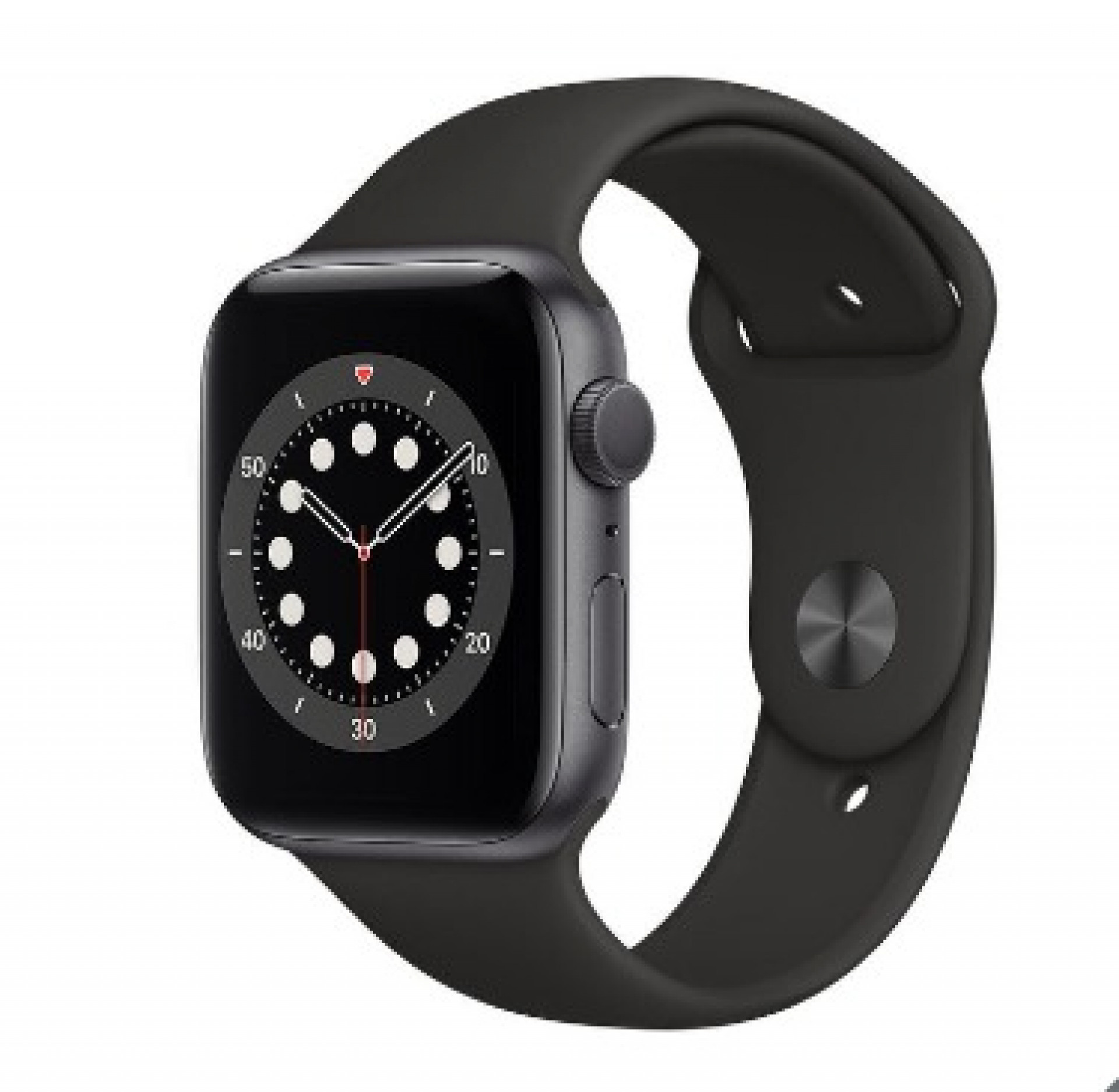 Apple Watch Series 6, M00H3B/A, GPS, 44mm Space Grey Aluminium Case with Black Sports Band