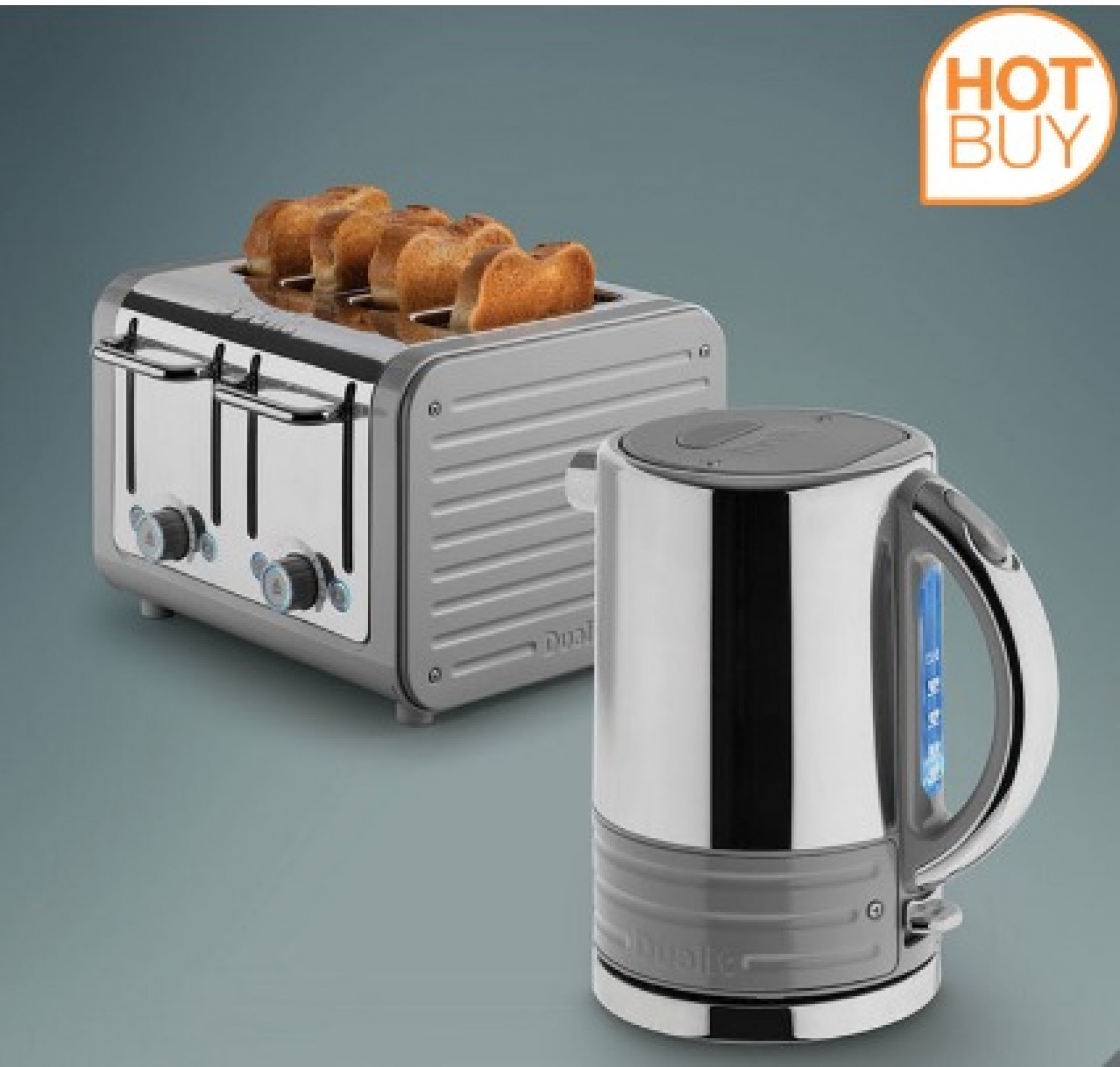 Dualit Architect Kettle and Toaster Set in Dark Grey