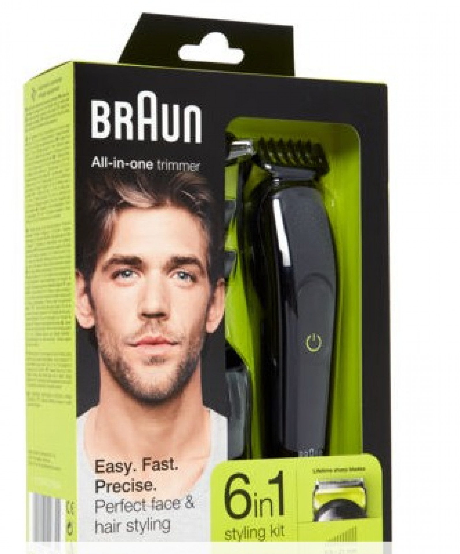 BRAUN  Black Six In One Grooming Trimmer