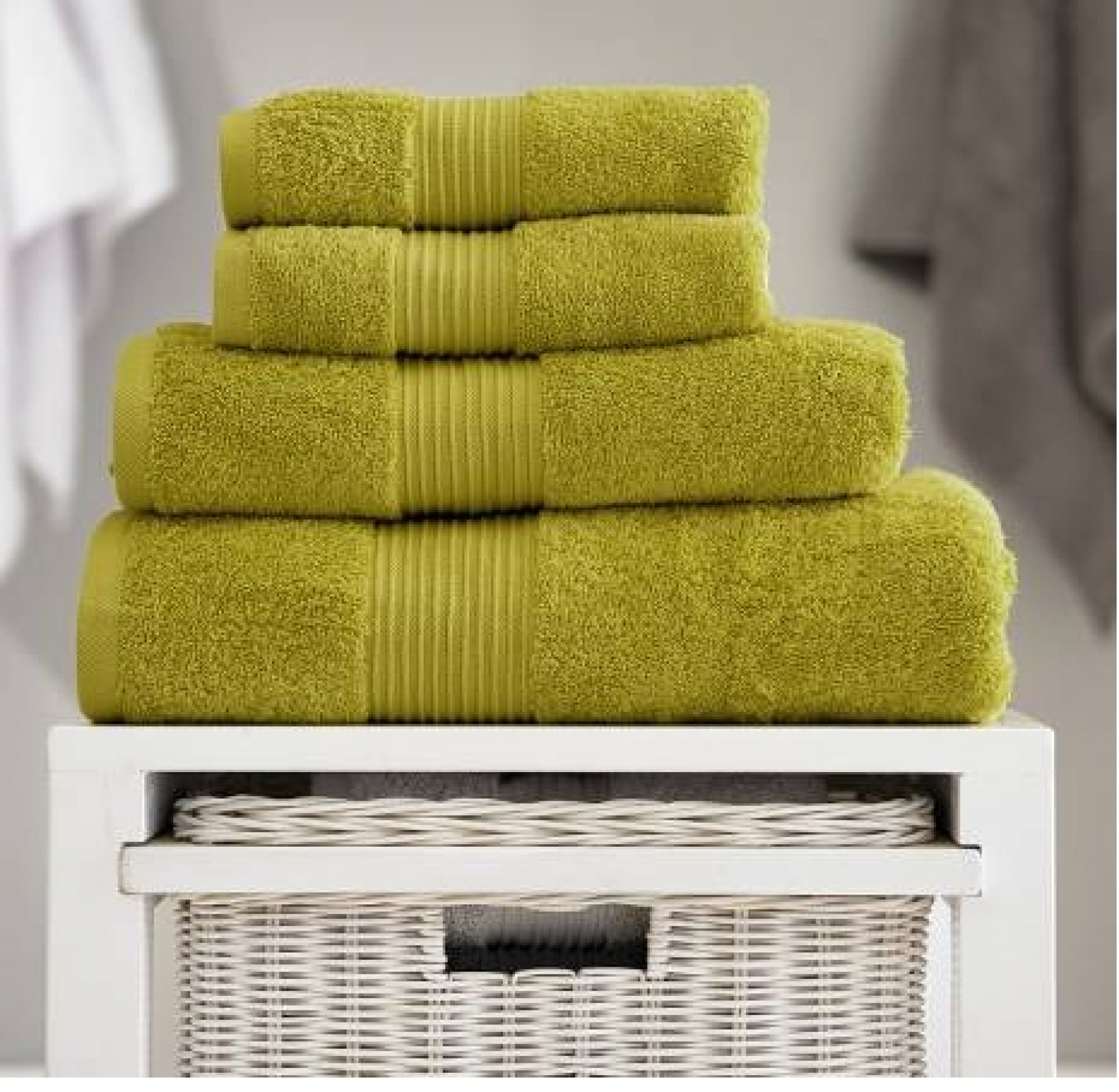 DEYONGS Bliss Pair of Hand Towels, Olive