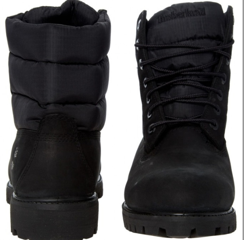TIMBERLAND  Black Quilted Ankle Boots