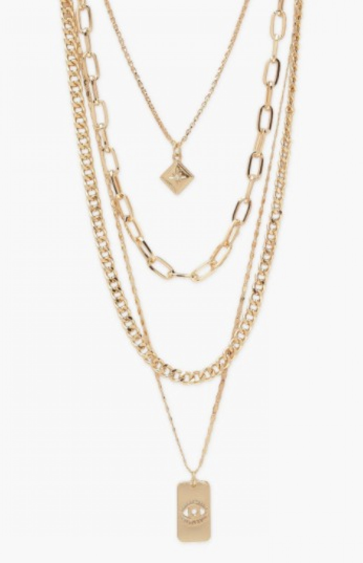 Chunky Chain and Pendant Layered Necklace