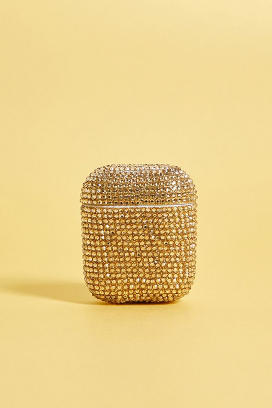 Hover to zoom.  Gold-Tone Diamante AirPods Case