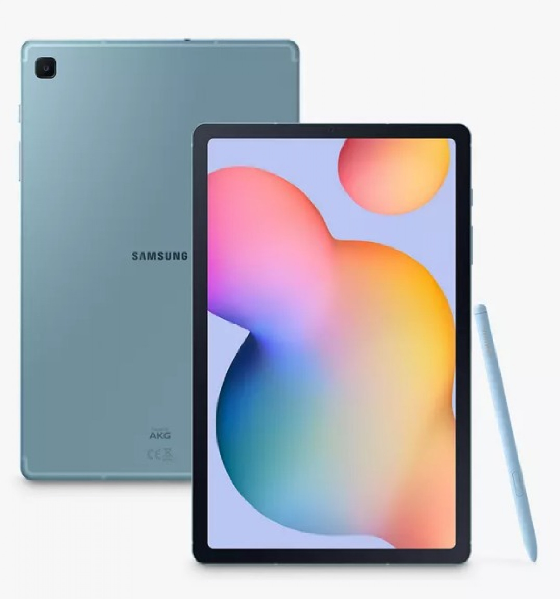 """Samsung Galaxy Tab S6 Lite Tablet with S Pen, Android, 64GB, 4GB RAM, Wi-Fi, 10.4"""", Angora Blue"""