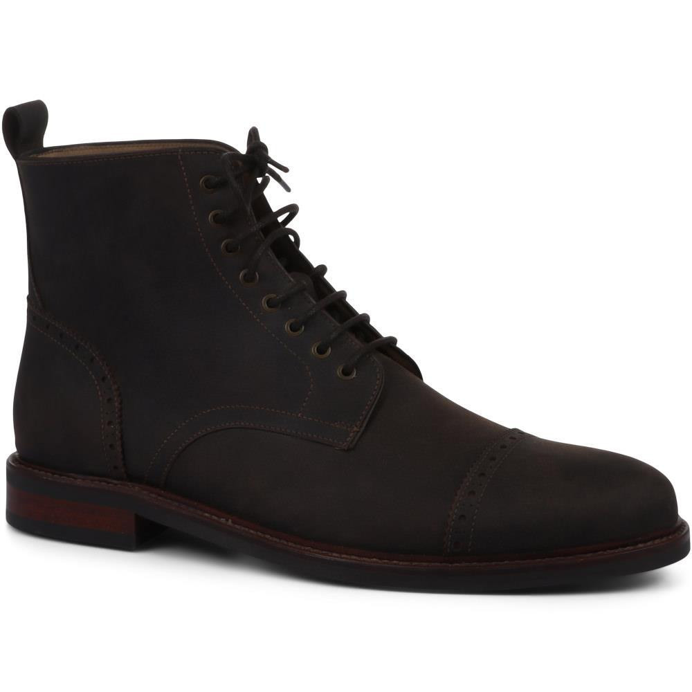 JONES BOOTMAKER DARIUS MEN'S LEATHER BROGUE BOOTS