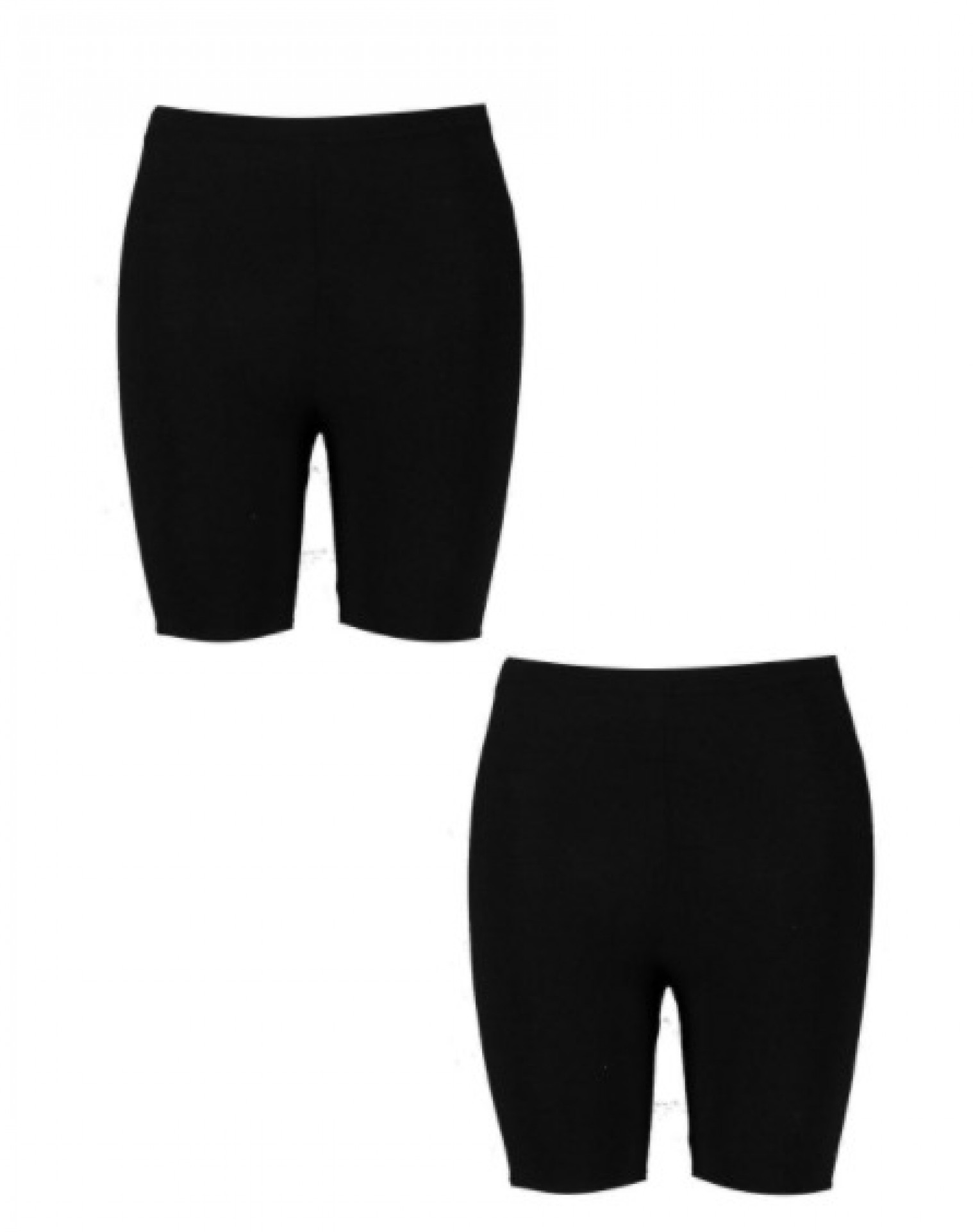 Plus Basic Jersey Cycling Shorts 2 Pack