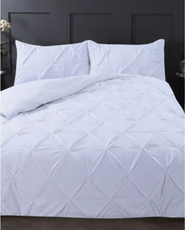 highams white pintuck king duvet set