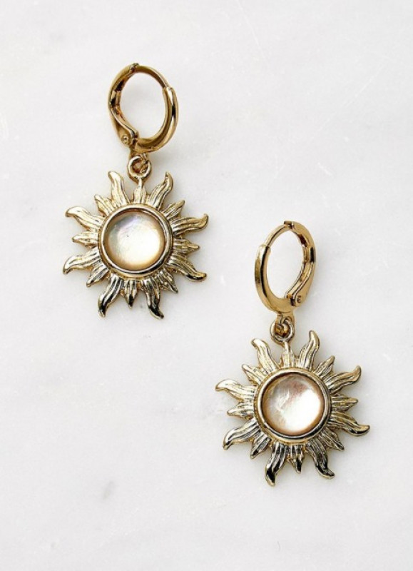Boho Moon Drop Earrings