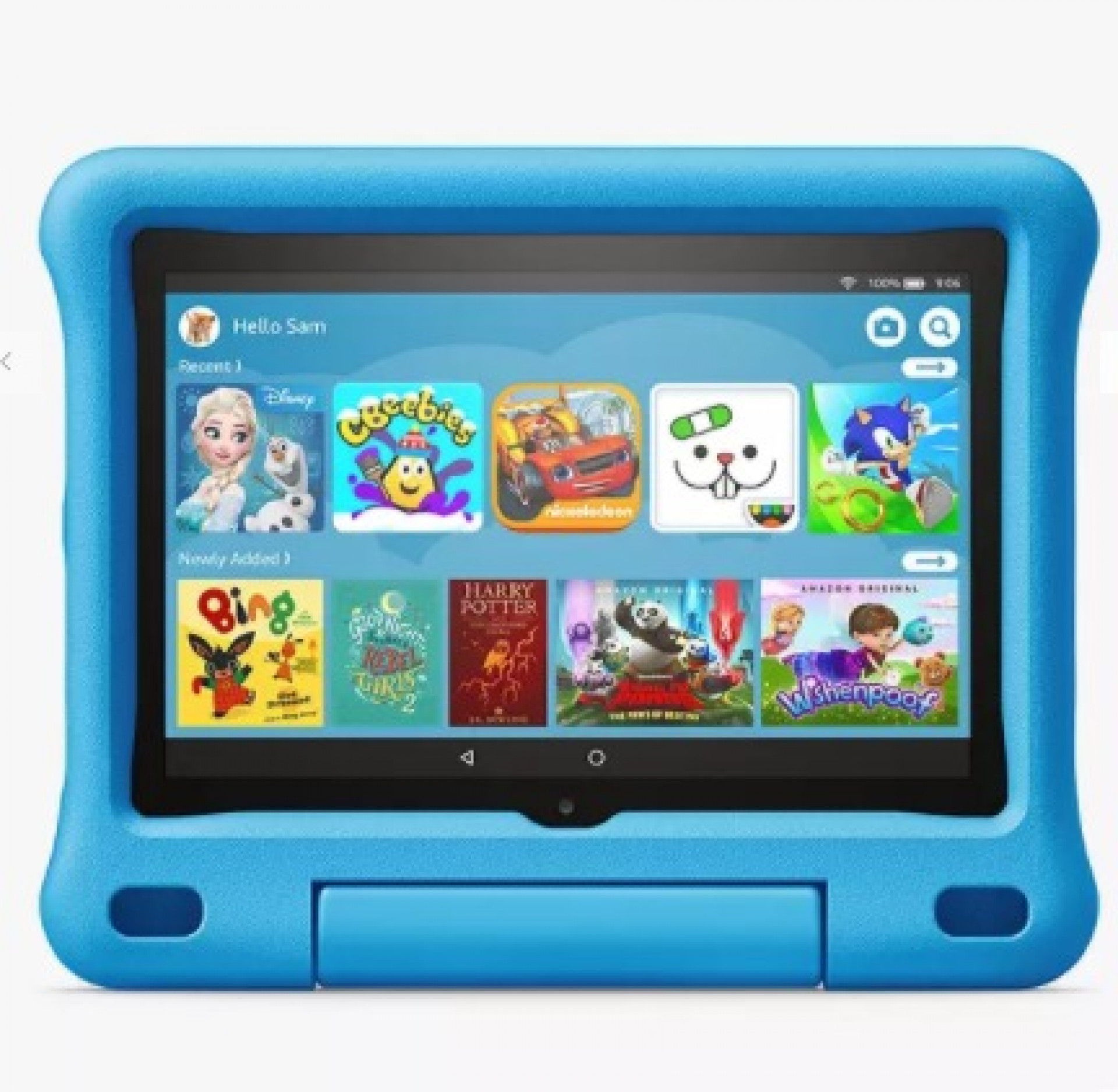 "Amazon Fire 8 Kids Edition Tablet with Kid-Proof Case, Quad-core, Fire OS, Wi-Fi, 32GB, 8"", Blue"