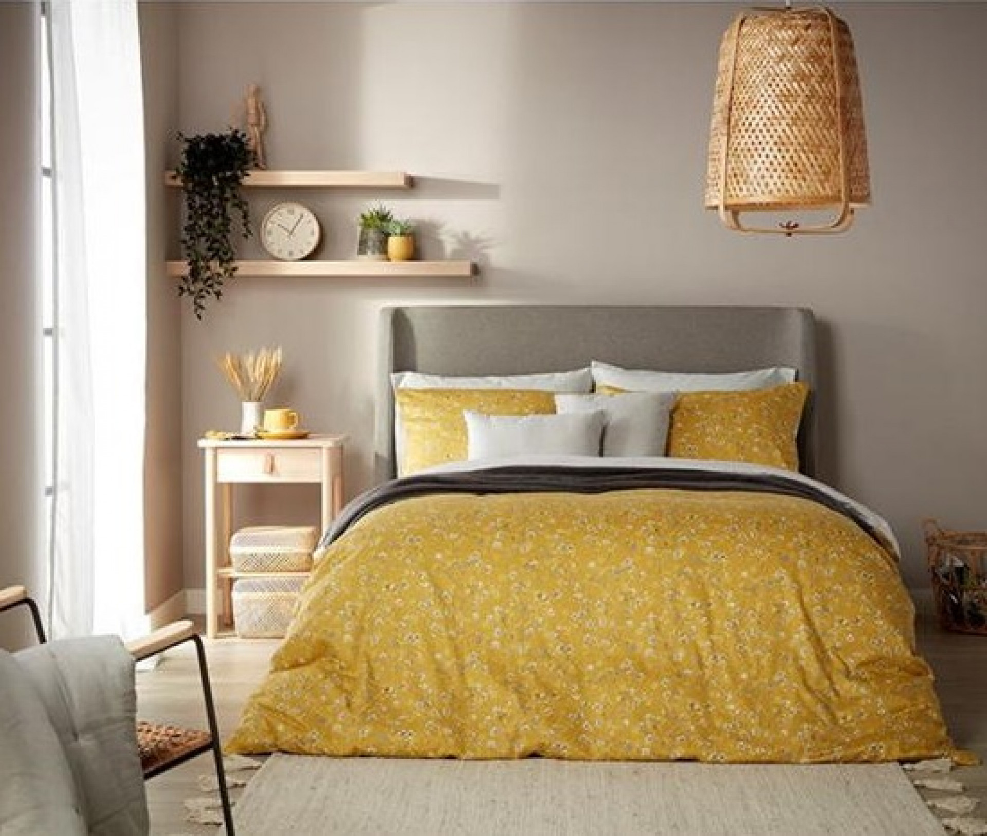 CHRISTY Sakura Single Duvet Set Buttercup