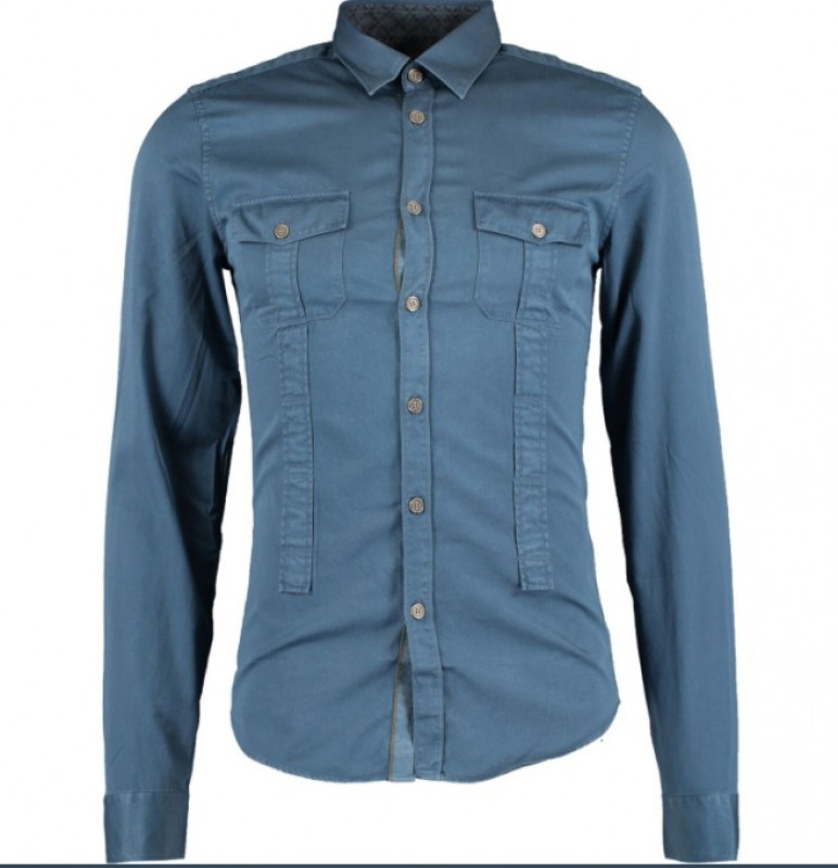 GUCCI  Blue Long Sleeve Shirt