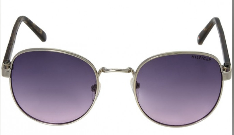 TOMMY HILFIGER  Silver Tone Round Sunglasses