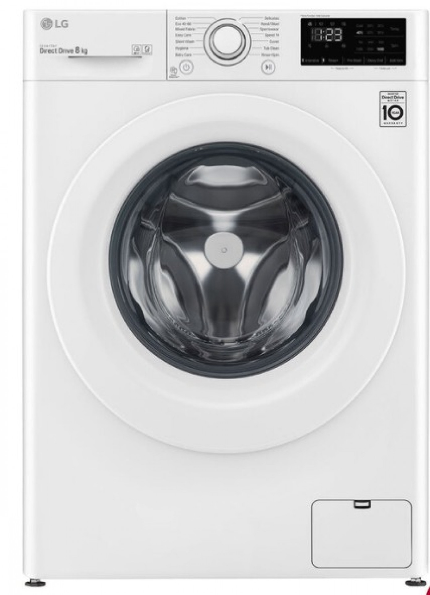 LG F4V3 Series, 8kg, 1400rpm, Washing Machine, C Rated in White