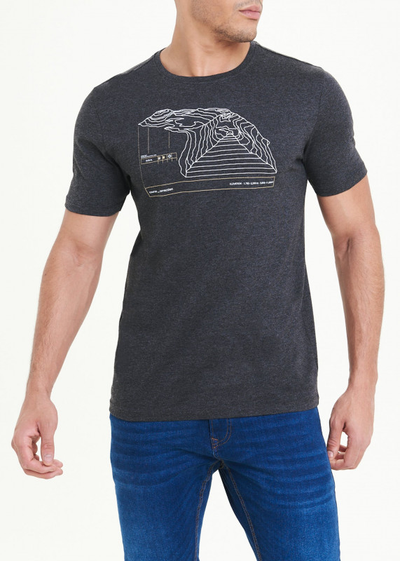 Mountain Print T-Shirt