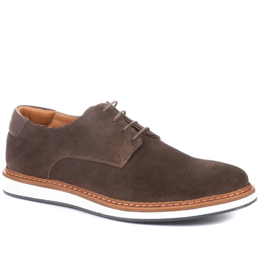 JONES BOOTMAKER LOWEN SUEDE CASUAL LACE-UPS