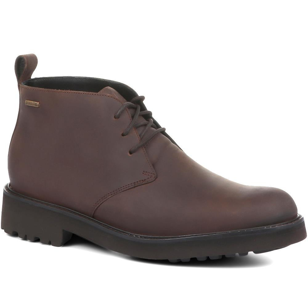 JONES BOOTMAKER HERBIE WATERPROOF LEATHER ANKLE BOOTS