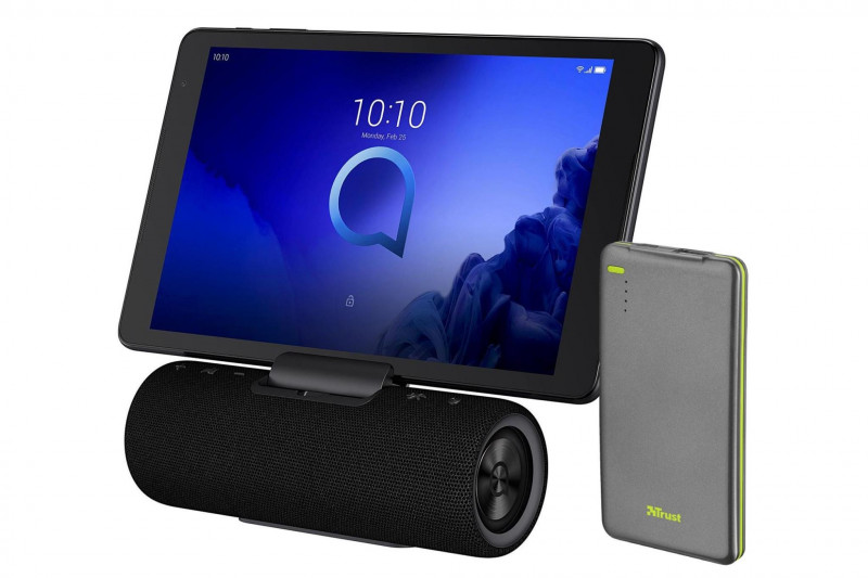 "Alcatel 10"" 3T10 Tablet with Audio Station & FREE Trust Urban 4000mAh Power Bank - 16GB, Black"