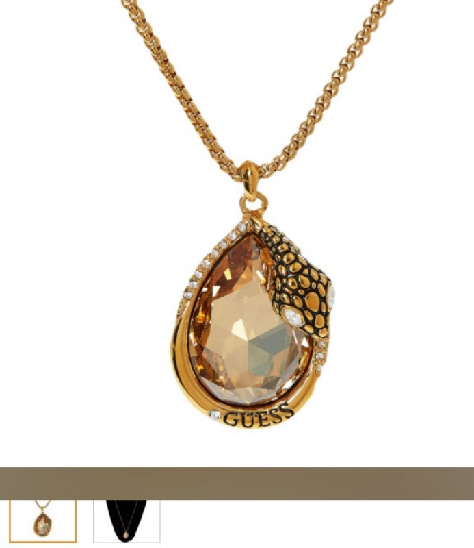 GUESS  Gold Tone Pendant Necklace