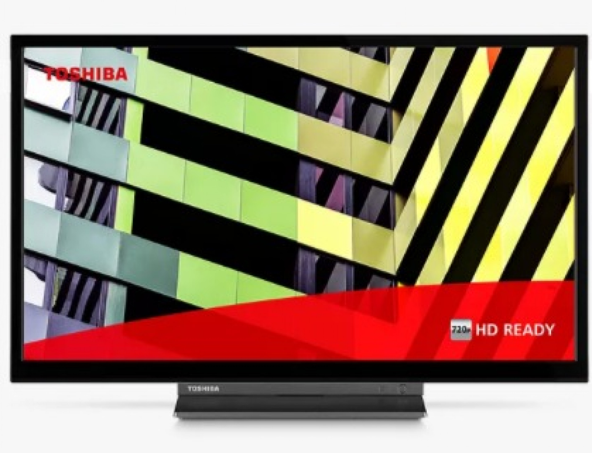 """Toshiba 24WD3C63DB (2020) LED HDR HD Ready 720p Smart TV/DVD Combi, 24"""" with Freeview Play, Black"""