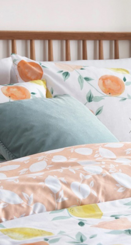 FRUIT REVERSE PRINT SINGLE DUVET SET