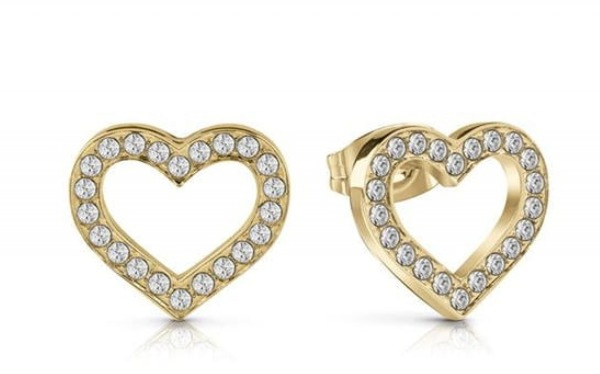 GUESS gold plated heart earrings