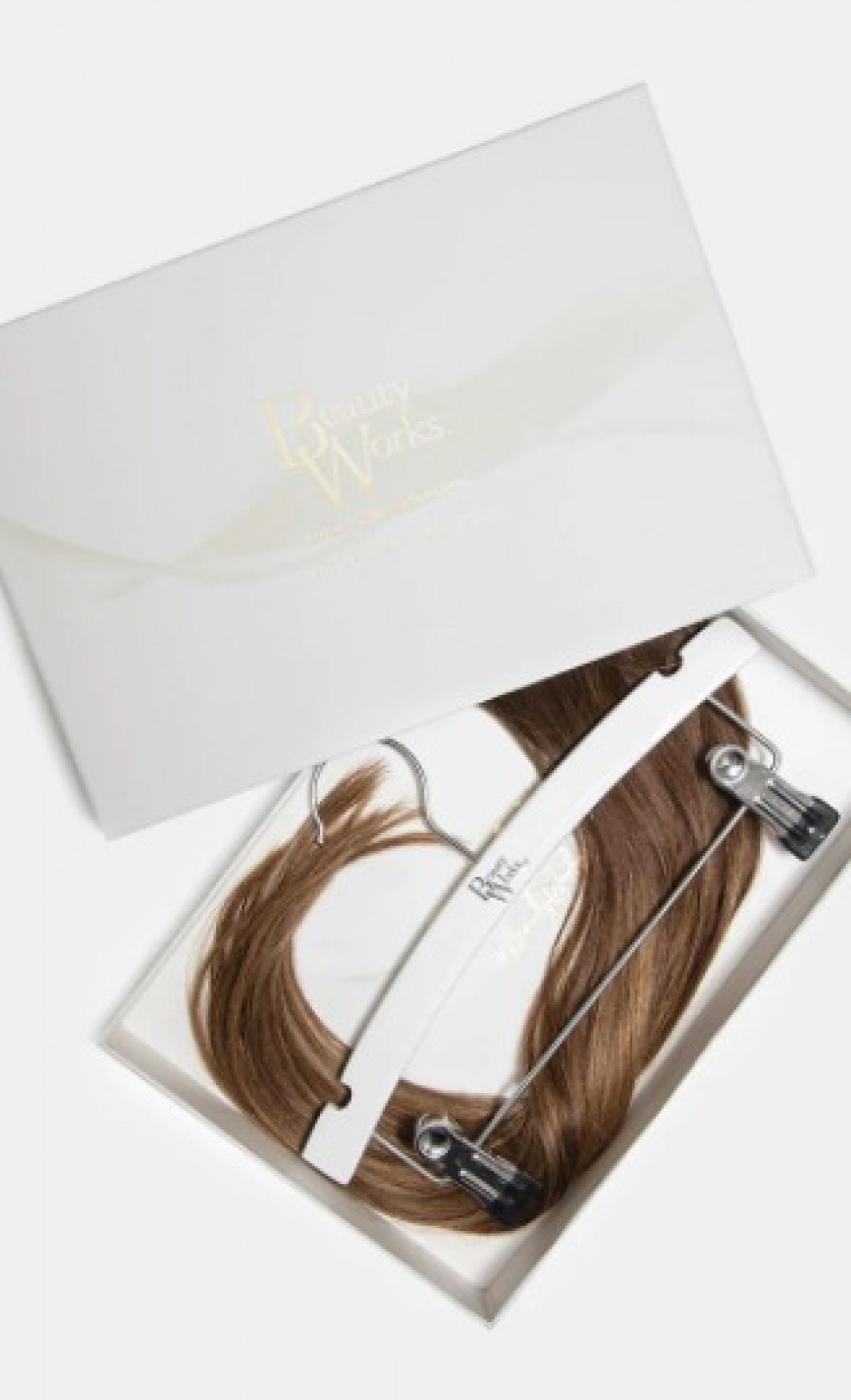BEAUTY WORKS DOUBLE HAIR SET WEFT 18 INCH BROND'MBRE 50 GRAMS