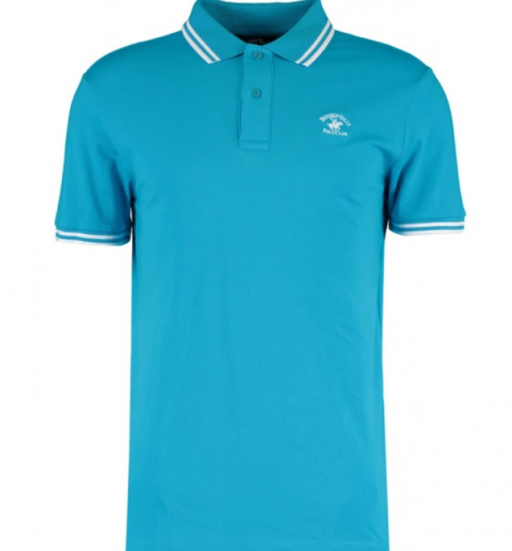 BEVERLY HILLS POLO CLUB  Blue Polo Top
