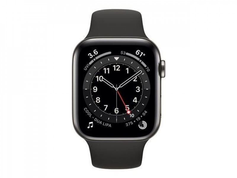 Apple Watch SE GPS + Cellular - Space Gray Aluminium Case with Black Sport Band, 40mm