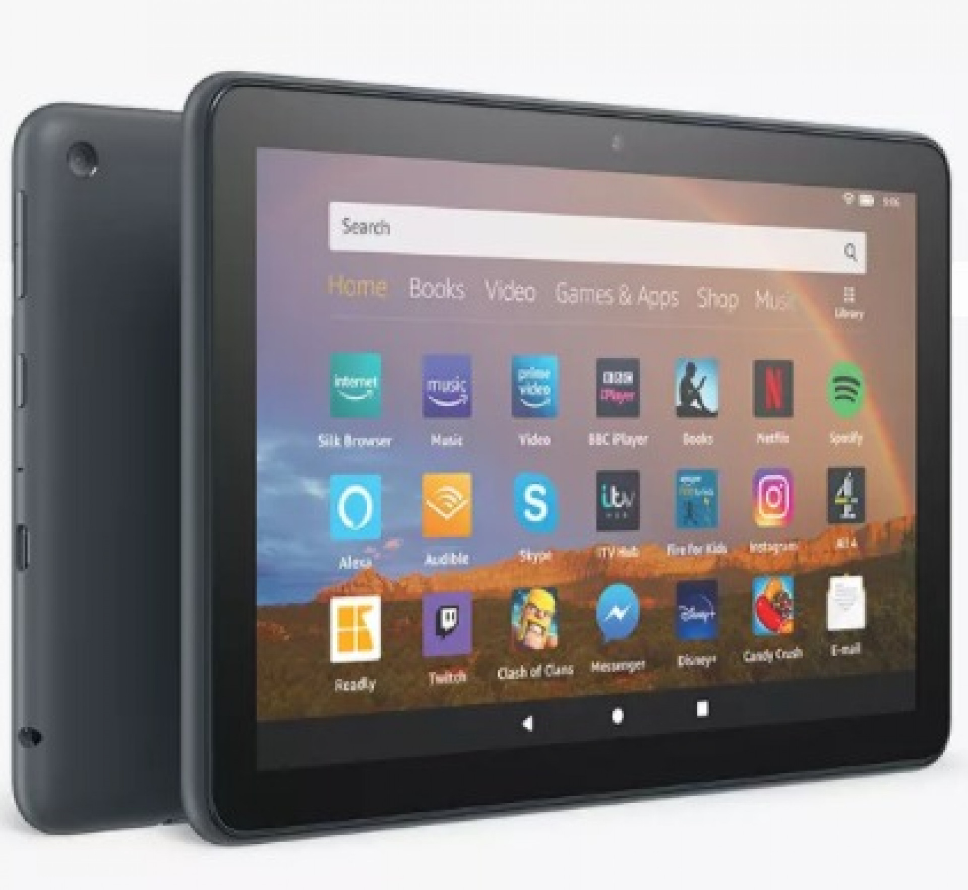 """Amazon Fire HD 8 Plus Tablet (10th Generation) with Alexa Hands-Free, Quad-core, Fire OS, Wi-Fi, 32GB, 8"""", with Special Offers & Wireless Charging, Slate"""