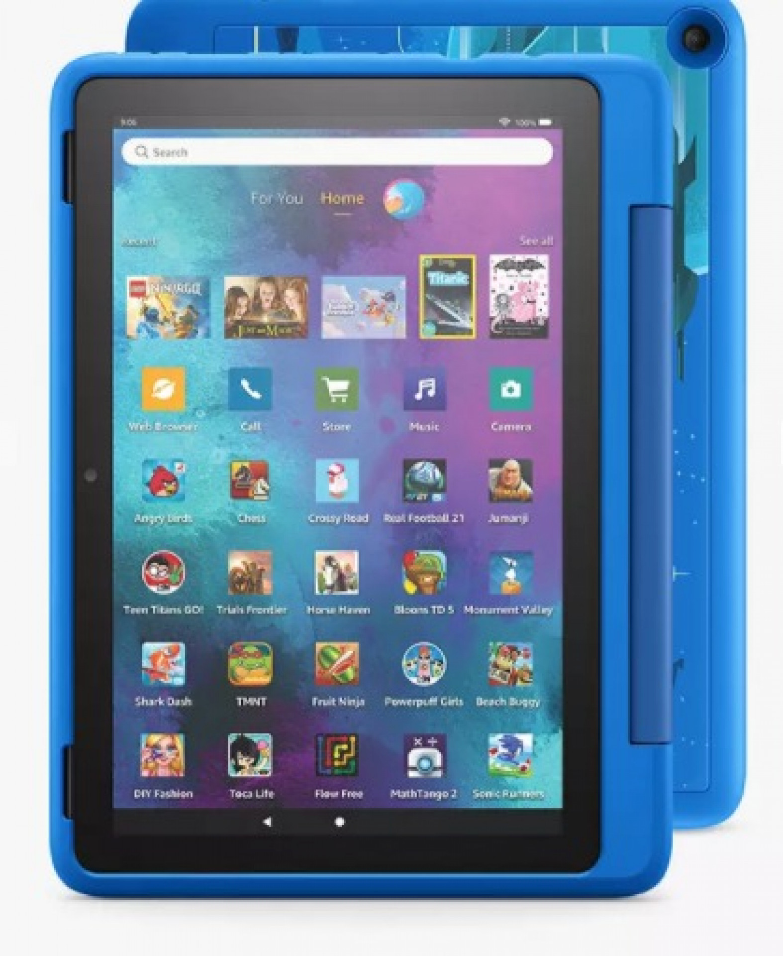 """Amazon Fire 10 Kids Pro Edition Tablet (11th Generation) with Kid-Friendly Case, Octa-core, Fire OS, Wi-Fi, 32GB, 10.1"""", Intergalactic Blue"""
