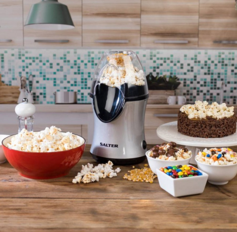 SALTER Healthy Fat-Free Electric Hot Air Popcorn Maker