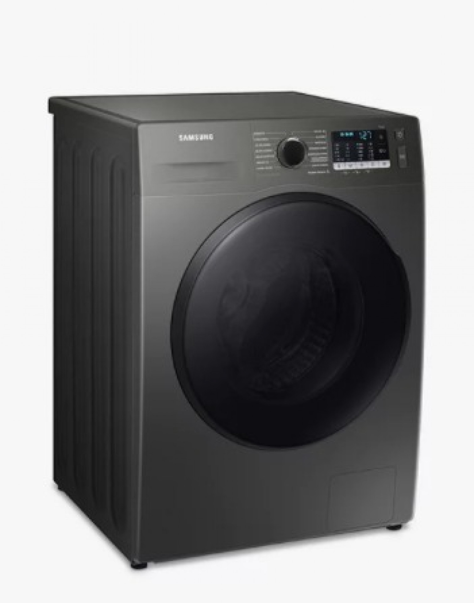Samsung Series 5 WD90TA046BX Freestanding ecobubble™ Washer Dryer, 9kg/6kg Load, 1400rpm Spin, Graphite