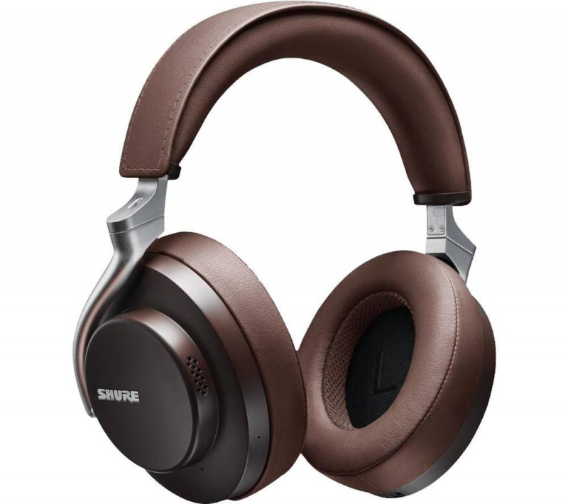 Shure AONIC 50 Premium Wireless Bluetooth Noise-Cancelling Over-Ear Headphones - Brown